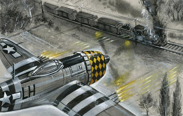 P-47 Thunderbolt útočí. | foto: Karel Jerie pro Technet.cz