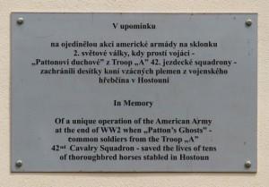 Pamětní deska v Hostouni